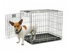 transportbur til hunde i stål billigt og let at transportere se mere