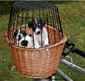 hvalpe hundebur cykel strå kurvedesign