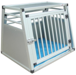 alu-transportbur til hund solidt aluminium - godt til transport i bilen